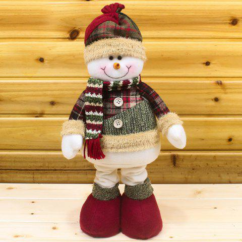 Winter Dress-up Santa Claus Snowman Stretchable Cloth Doll - WHITE
