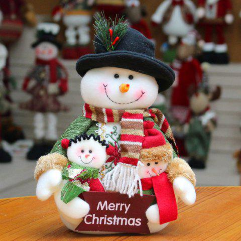 Snowman Santa Claus Dress-up Cloth Doll Ornament Christmas - WHITE