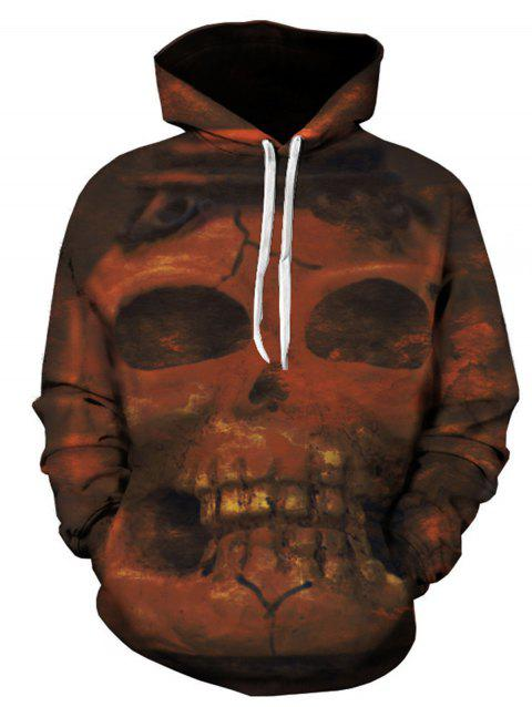 Sweat à Capuche Imprimé Crâne 3D - multicolore XL