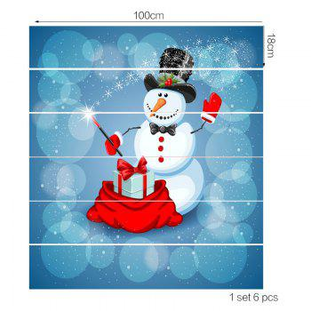 Snowman Magician Pattern Removable Stair Stickers - COLORFUL COLORFUL