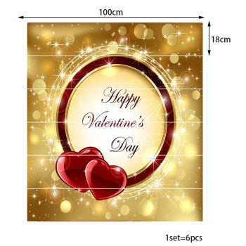 Happy Valentines Day and Love Heart Pattern Stair Decals - COLORFUL 100*18CM*6PCS