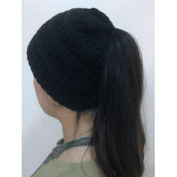 Open Top Mixcolor Knitted Hat