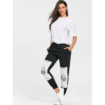 Cordon de serrage Patches Graphic Sweatpants - Noir M