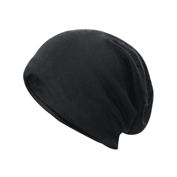 Outdoor Two Layers Thicken Lightweight Beanie - BLACK