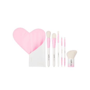 Portable Beauty Tools 6Pcs Makeup Brushes Set With Bag - PINK