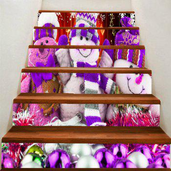 Snowman Dolls Printed Stair Stickers - COLORFUL COLORFUL