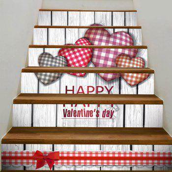 Home Art Decal Heart Printed Removable Stair Stickers - COLORFUL COLORFUL