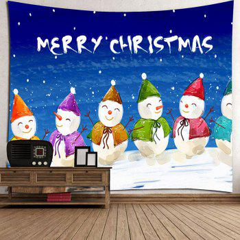 Handpainted Happy Snowmen Wall Hanging - COLORFUL W59 INCH * L51 INCH