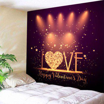 Valentine  Luminous Love Printed Wall Art Tapestry - COLORFUL W91 INCH * L71 INCH