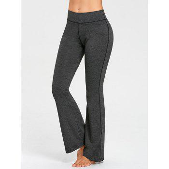 Contrast Stitches Trumpet Pants - DEEP GRAY L