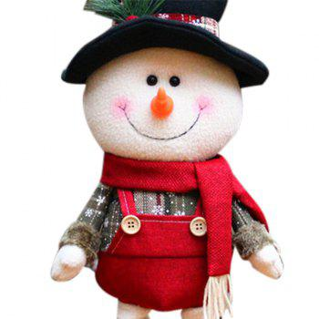 Santa Claus Snowman Cloth Art Christmas Decoration Doll - WHITE