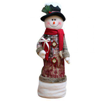 Santa Claus Snowman Stretchable Cloth Doll Christmas Ornament - WHITE