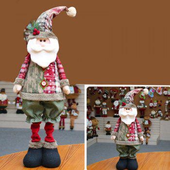 Snowman Santa Claus Reindeer Stretchable Doll Christmas Decoration - RED RED