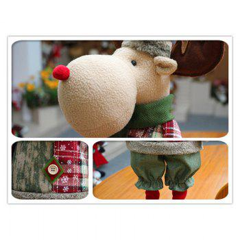 Snowman Santa Claus Reindeer Stretchable Doll Christmas Decoration - OFF WHITE