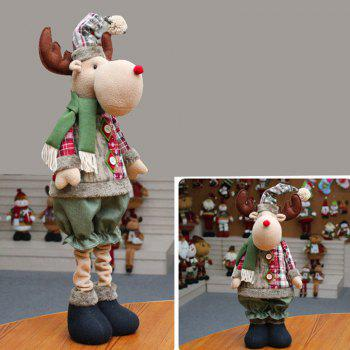 Snowman Santa Claus Reindeer Stretchable Doll Christmas Decoration - OFF-WHITE OFF WHITE