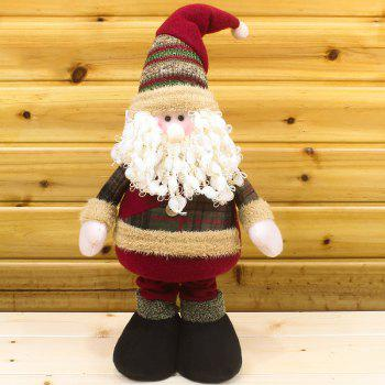 Winter Dress-up Santa Claus Snowman Stretchable Cloth Doll - RED RED