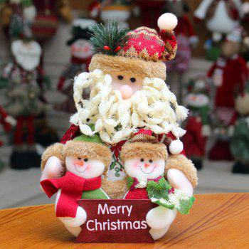 Snowman Santa Claus Dress-up Cloth Doll Ornament Christmas - RED RED