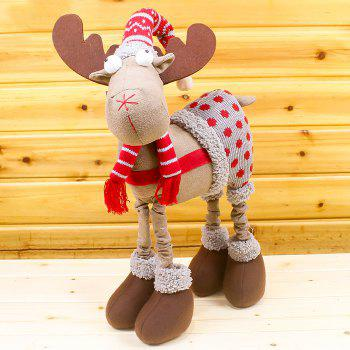 Christmas Wear Overalls Elk Cloth Doll - RED