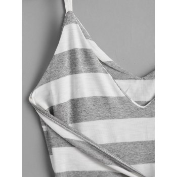 Bowknot Stripes Slip Mini Dress - STRIPE M