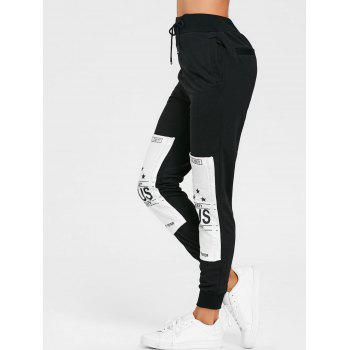 Cordon de serrage Patches Graphic Sweatpants - Noir L