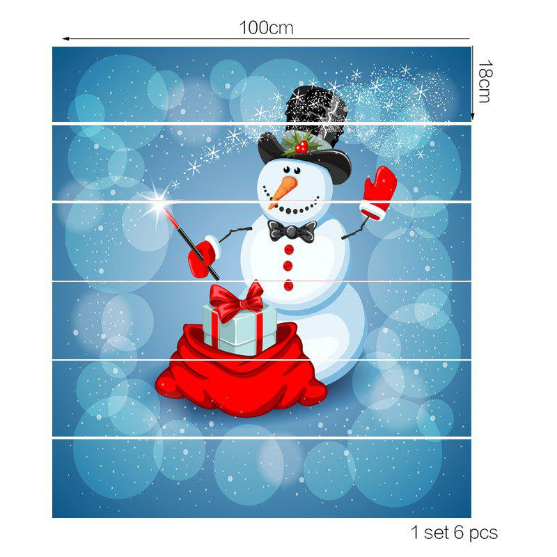 Snowman Magician Pattern Removable Stair Stickers - COLORFUL 100*18CM*6PCS