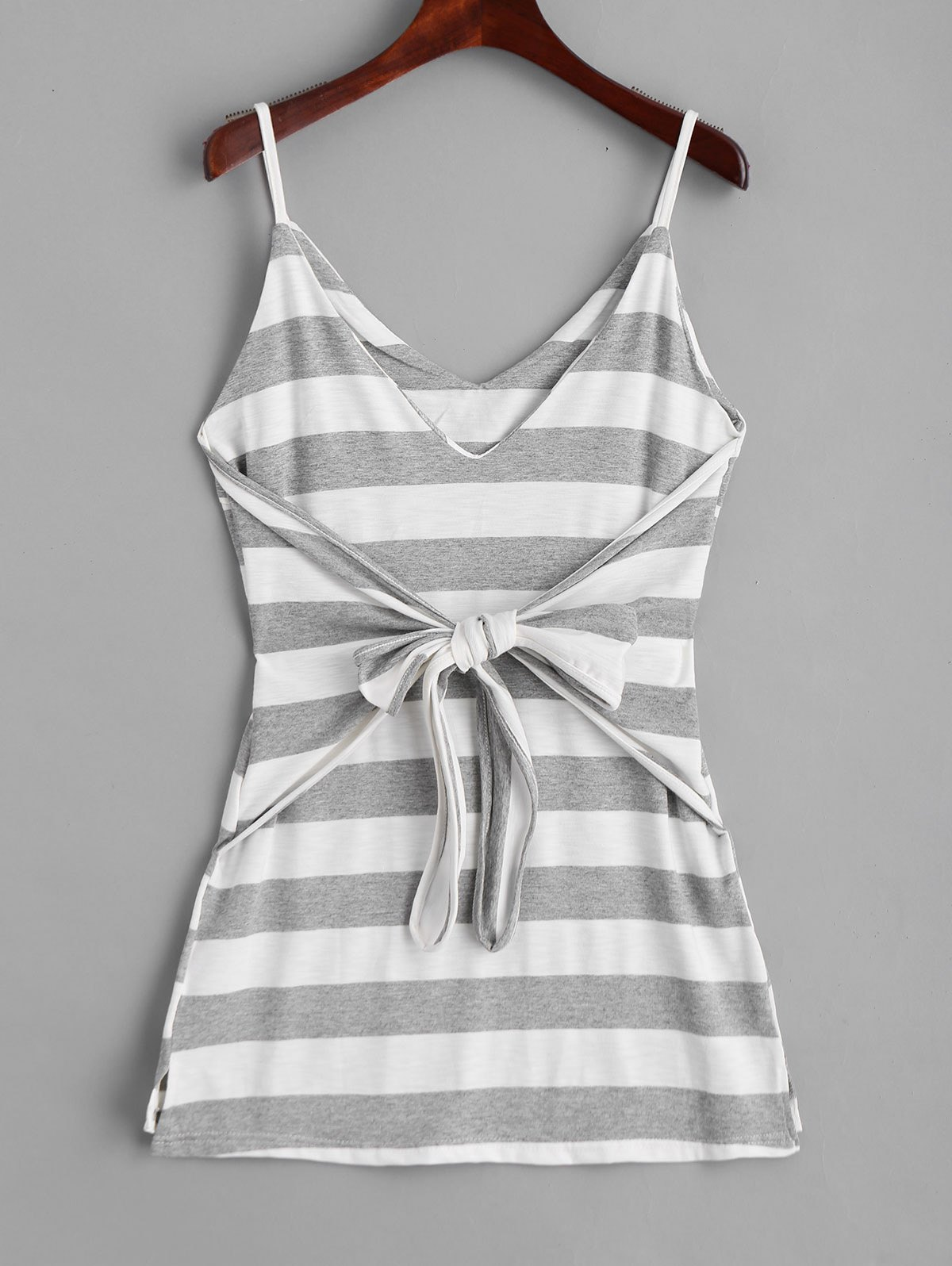 Bowknot Stripes Slip Mini Dress - STRIPE XL