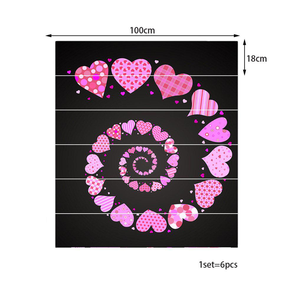 Spiral Heart Pattern Decorative Stair Stickers - COLORFUL 100*18CM*6PCS