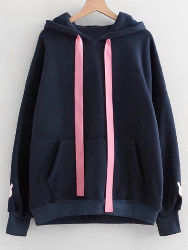 Contrast Ribbon Rabbit Patches Hoodie брюки sisley sisley si007ewaggo2