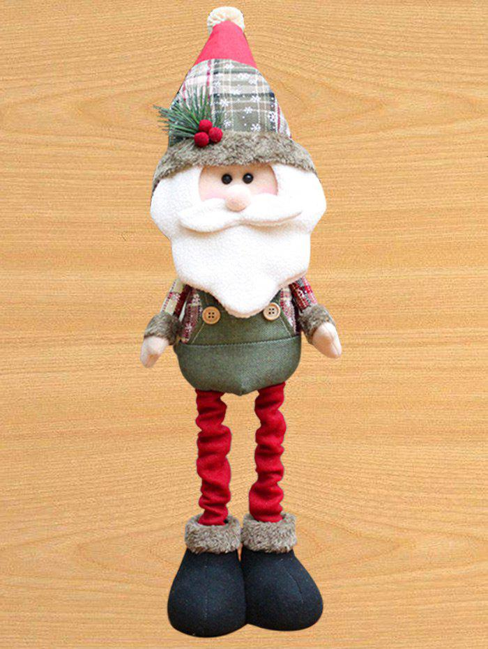 Santa Claus Snowman Cloth Art Christmas Decoration Doll - RED