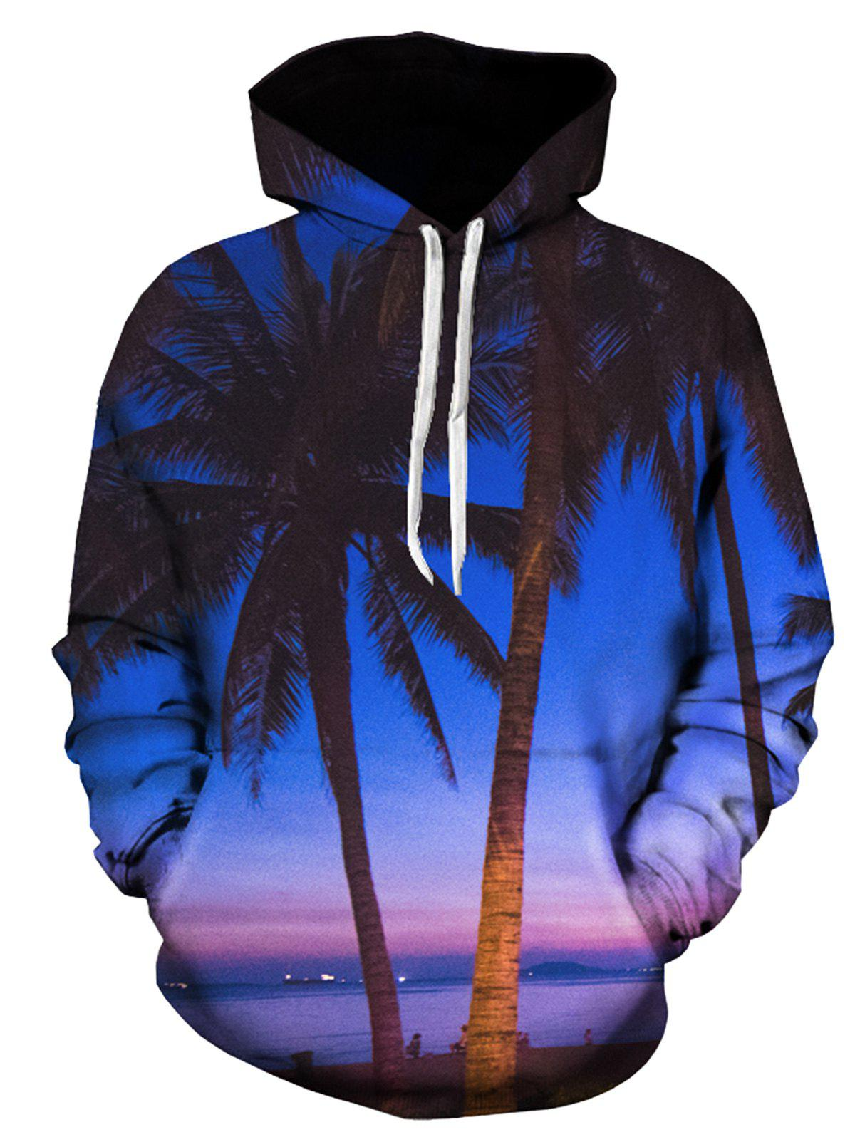 Trees 3D Printed Pullover Hoodie flame trees of thika