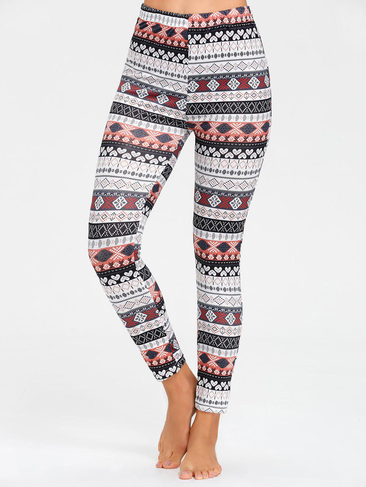 Leggings Pyjama Skinny Imprimé - multicolore XL