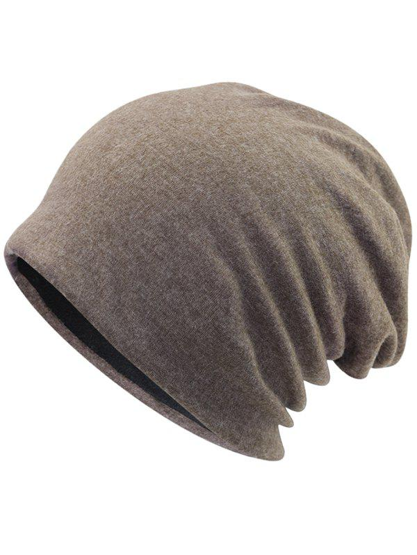 Outdoor Two Layers Thicken Lightweight Beanie - LIGHT COFFEE
