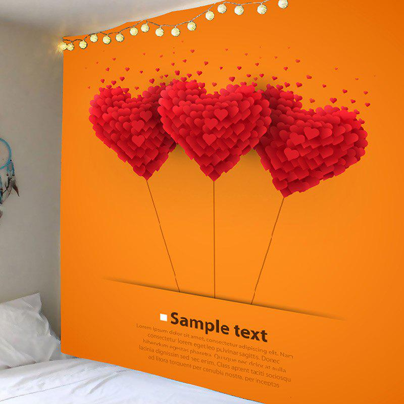 Love Heart Letter Printed Wall Art Tapestry - COLORFUL W91 INCH * L71 INCH