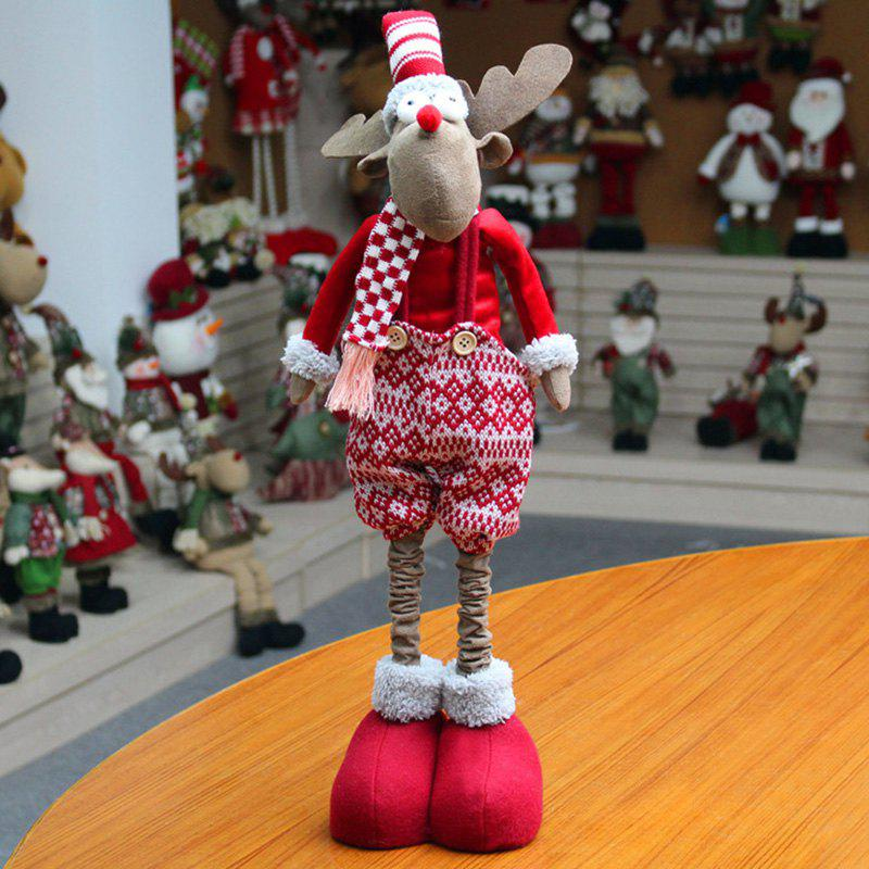 Christmas Dress-up Elk Stretchable Cloth Doll - CLARET