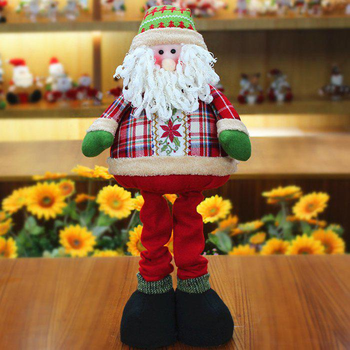 Winter Santa Claus Snowman Stretchable Cloth Doll - RED