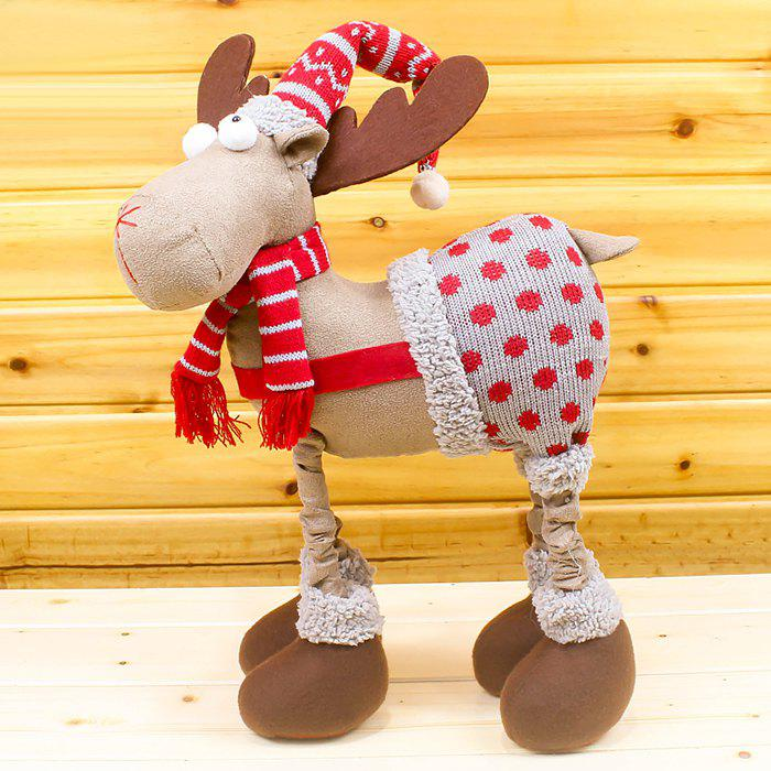 Vêtements de Noël Salopette Elk Cloth Doll - Rouge