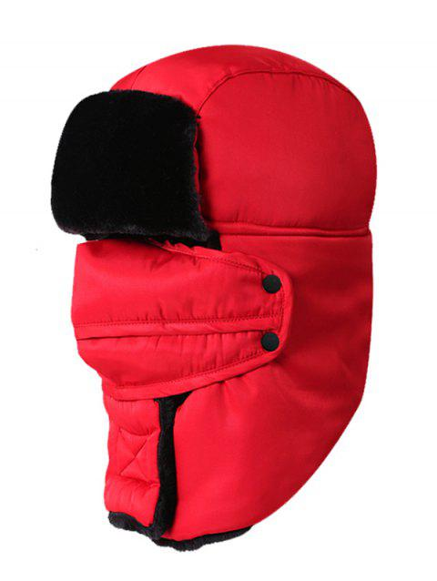 Outdoor Waterproof Thicken Ski Trapper Hat - RED