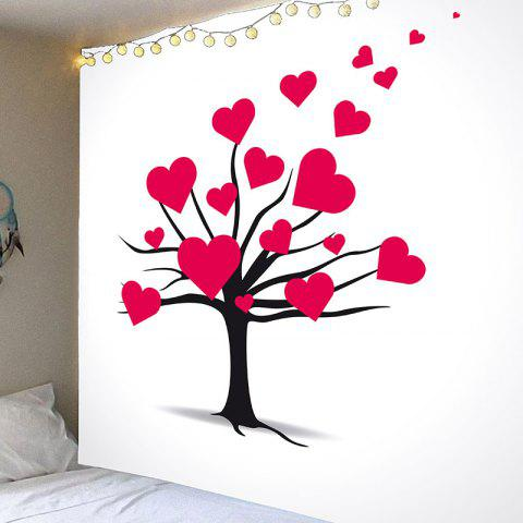 Valentine's Day Love Heart Tree Wall Hanging - RED W91 INCH * L71 INCH