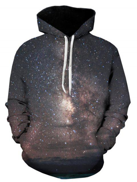 Galaxy Trippy 3D Printed Pullover Hoodie - COLORMIX L
