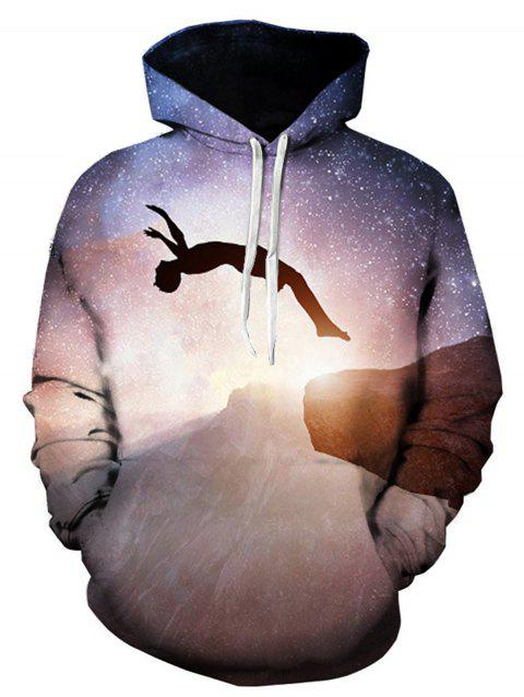 Figure Galaxy 3D Printed Pullover Hoodie - COLORMIX 2XL
