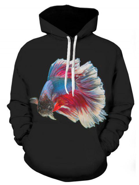 Fancy Carp 3D Printed Pullover Hoodie - COLORMIX XL