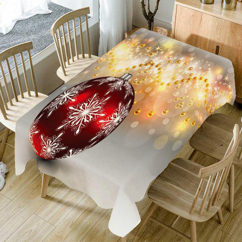 Baubles Pattern Christmas Table Cloth - COLORFUL W60 INCH * L84 INCH