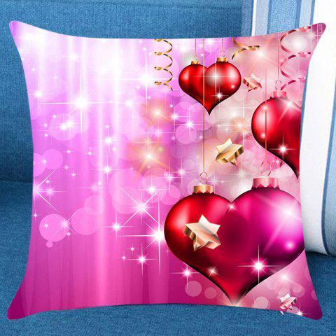 Valentine's Day Romantic Shiny Heart Pattern Decorative Pillow Case - PINK W18 INCH * L18 INCH