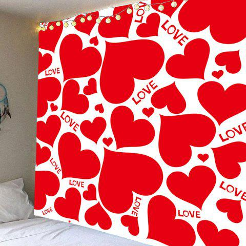 Valentine's Day Full Hearts Wall Hanging - RED W71 INCH * L71 INCH