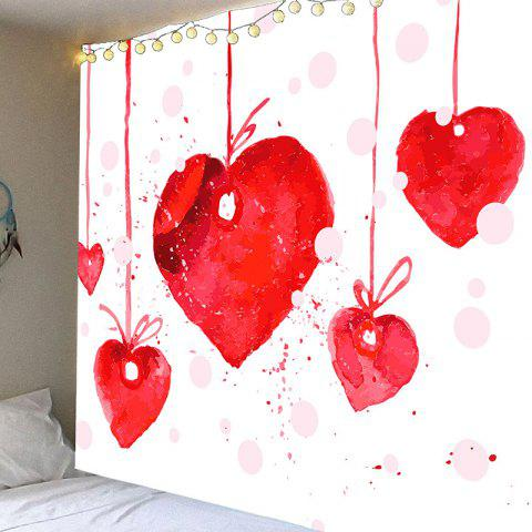 Heart Cherry Valentine's Day Wall Hanging - RED W59 INCH * L51 INCH
