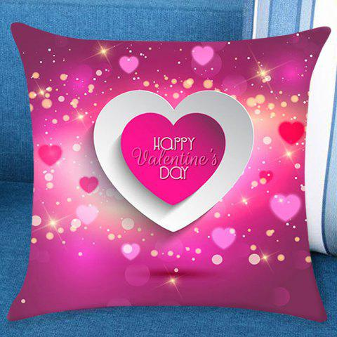 Valentine's Day Starry Heart Pillow Case - PINK W18 INCH * L18 INCH