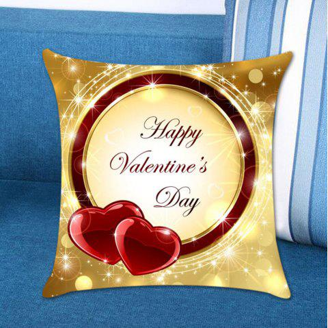 Valentine Love Rings Printed Linen Pillow Case - COLORFUL W18 INCH * L18 INCH