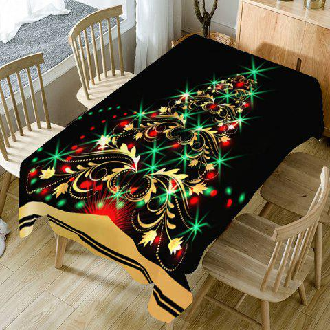 Shiny Christmas Tree Patterned Decorative Table Cloth - BLACK/GOLDEN W54 INCH * L54 INCH