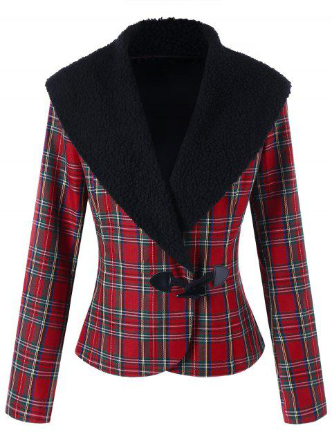 Horn Button Checked Jacket - CHECKED M