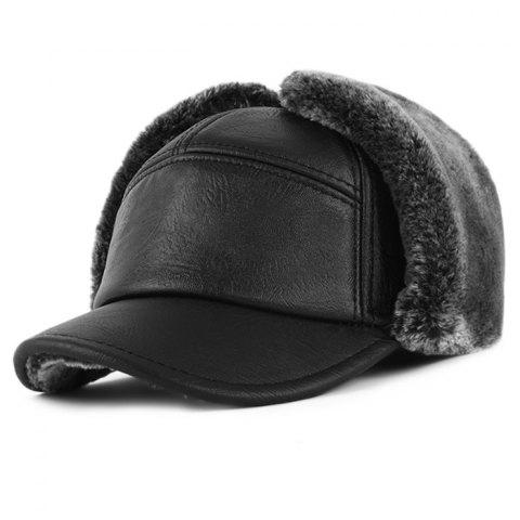 9a2064b8225ee 41% OFF  2019 Winter Waterproof Faux Leather Hunter Trapper Hat In ...